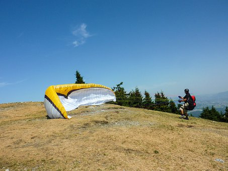 Clipping Stage, Paragliding, Start, Wind, Wind Sock