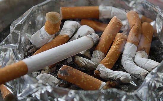 Cigarettes, Ash, Tilt, Smoking, Ashtray, Disgust