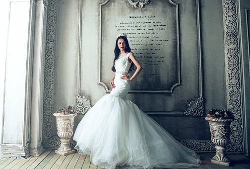 Wedding Dresses, Bride, Extravagant, Fancy, Luxury