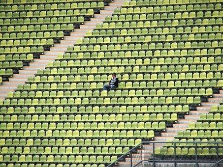Stadium, Football, Viewers, Olympic Stadium, Lonely