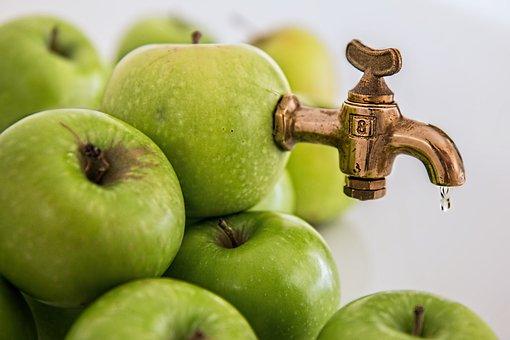 Apple Juice, Sweet, Fruit Juice, Healthy, Fresh, Juicy