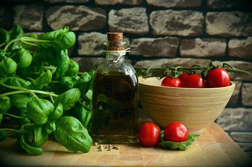 Olive Oil, Tomatoes, Basil, Eat, Mediterranean, Healthy