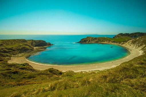 Lulworth Cove, Ocean, Of The Sea, Country, Bay, Dorset