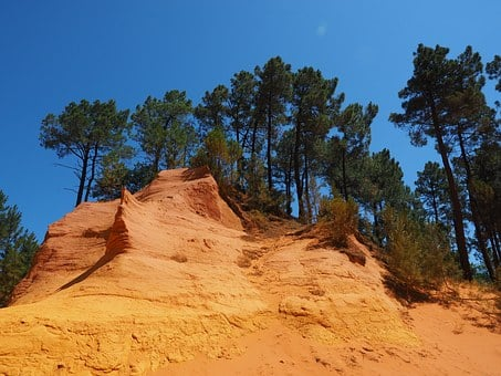 Ocher Rocks, Ocher, Ocher Quarry, Rock, Color, Bright