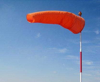 Windsock, Bright, Orange, Blue Sky, Air Sleeve