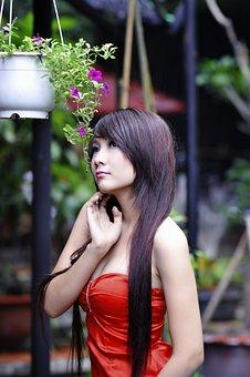 Girl, Pretty, Asian, Pretty Girl, Woman, Happy, Person