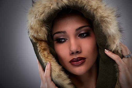 Woman, Face, Portrait, Hood, Canon, Studio, Beauty