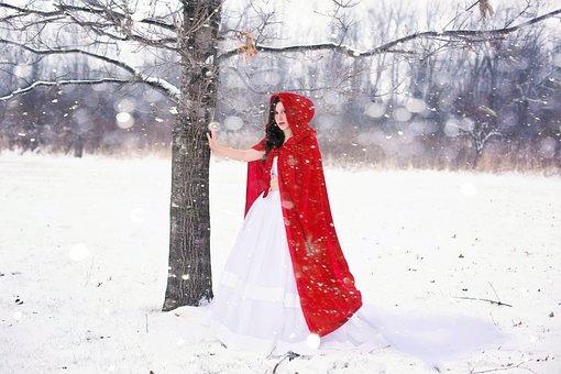Woman, Pretty, Happy, Girl, Winter, Snow, White, Cold