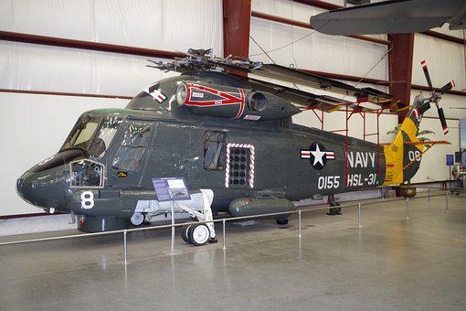 Helicopter, Navy, Museum, Us, Air Force