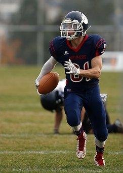 Football, American Football, Pigskin, Runner