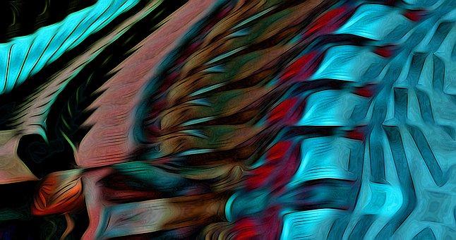 Abstract, Background, Lines, Art Deco, Digital Art