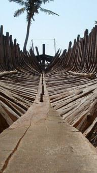 Dhow Building, Belo Sea, Madagascar, Wood, Old, Carcass