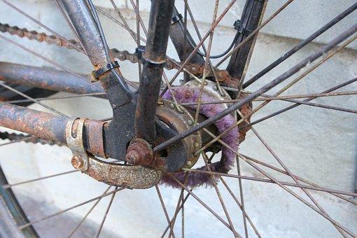 Bike, Bicycle Hub, Old Bike, Bicycle Spoke, Spokes