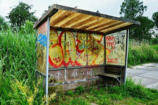 Bus Stop, Bus Shelter, Shelter, Public Transport