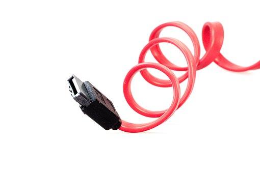 Cable, Computer, Sata, S-ata, Connection, Plug, Pc