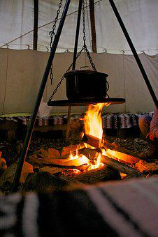 Campfire, Tent, Camping, Adventure, Outdoor, Make Fire