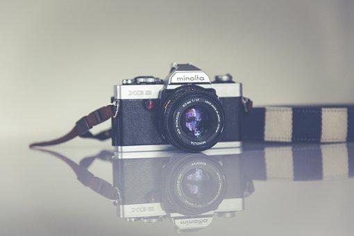 Analog, Antique, Exposure, Black, Body, Camera, Chrome
