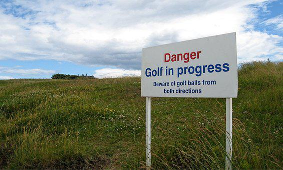 Danger, Golf, Balls, Dangerous, Sport, Warning, Sign