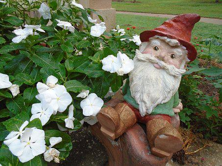 Gnome, Flowers, Garden, Plant, Nature, Outdoor, Ceramic