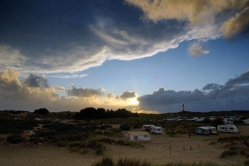 Amrum, Island, Campsite, Tent Caravan, Folding Caravan