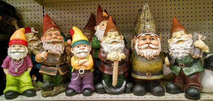 Gnomes, Elves, Garden, Decorations, Legend, Bearded