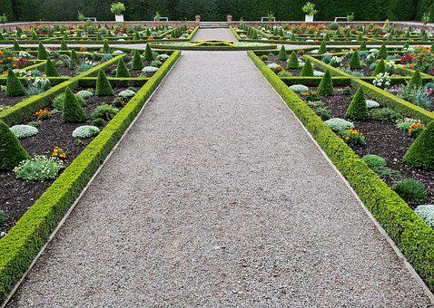 Garden, Formal, Knot, Hedge, Box, Path, Gardening