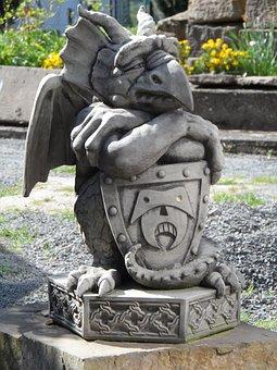 Sculpture, Gnome, Gargoyle, Stone, Horticulture