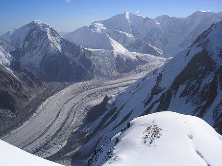 Mountain, Mountaineering, High Altitude, Camp, Glacier