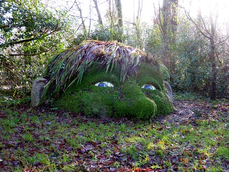 Gnome, Garden, Sculpture, Stone Figure, Fig, Park