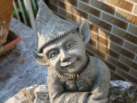 Imp, Garden, Gnome, Dwarf, Creature, Fabric