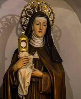 Saint Claire Of Assisi, Catholic, Saint, Patron, Italy