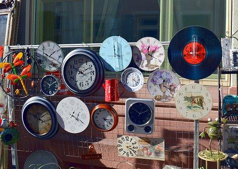 Watches, Junk, Flea Market, Clock, Heidelberg, Old