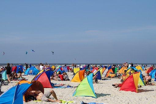 Beach, Beach Shelter, Kite, Kite Surfing, Sand Beach