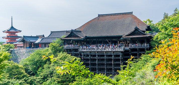Kiyomizudera Temple, Kyoto, Japan, Landmark, Travel