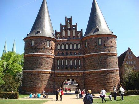 Lübeck, Holsten Gate, City, Landmark, Architecture