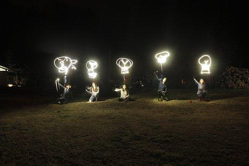 Light, Lights, Night, Darkness, Notion, Thinking
