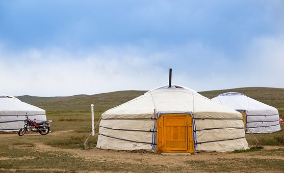 Yurt, Mongolia, Steppe, Nomads, Travel