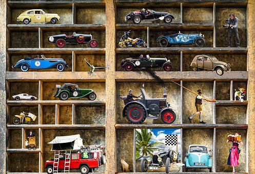 Oldtimer, Collection, Model Car, Collector, Automotive