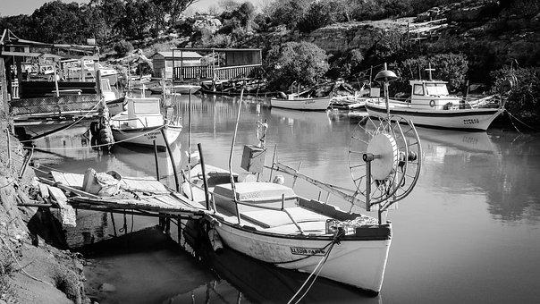 Fishing Boat, Fishing Shelter, Picturesque