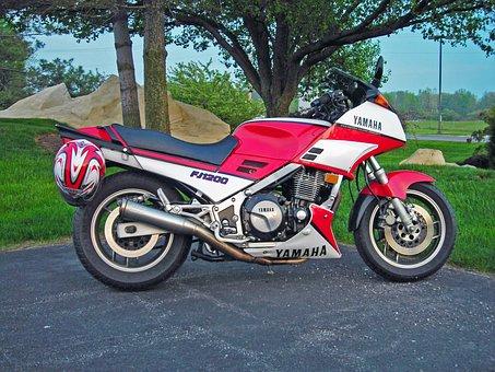 Yamaha Bikes, Motorcycle, Red, Transportation, Bike