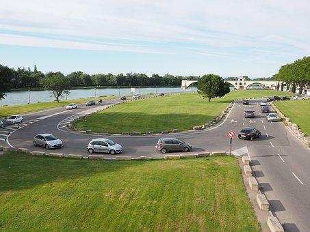 Traffic, Road, Avignon, Autos, Jam, Curve, Return