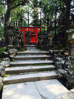 Shrine, Torii, Road