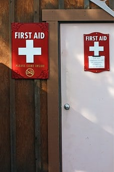 First Aid, Station, Door, Medical, First, Aid