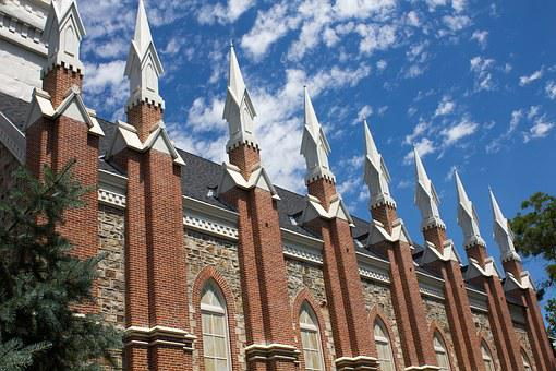 Spires, Tabernacle, Church, Steeple, Brick