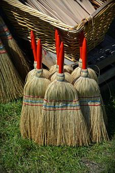 Broom, Hand Brush, Clean, Return, Sweep, Broom Bristles