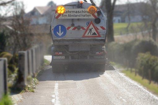 Work, Road, Traffic, Clean, Broom, Return, Sweeper