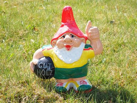 Dwarf, Thumbs Up, Prima, Garden Gnome, Fig, Gut, Top