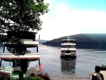 Ships, Lake, Starnberg, Return Journey, Water, Tree