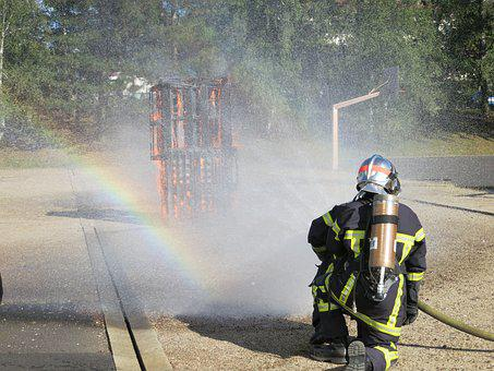 Fire, Fire Fighting, Brand, Use, Fire Fighting Attack
