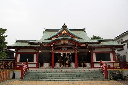 Yokohama, Shrine, Ushioda Shrine, Japan, Culture